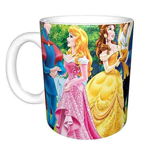 Taza divertida de cerámica de 325 ml, diseño de princesas Disney, divertida, sarcástica, motivacional, regalo de cumpleaños inspirador para amigos, compañeros de trabajo, hermanos, papá o mamá