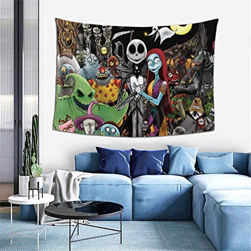 PageHar Tapiz Pesadilla Antes de Navidad Tapiz de 60x40 Pulgadas Tapiz artístico decoración del hogar decoración Personalizada para el hogar