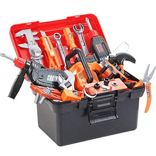 Maletín de herramientas para niños, 43 piezas, multifunción, destornillador eléctrico de reparación,...