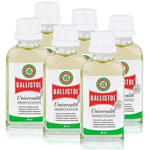 Ballistol botellas de cristal (6A, 50ml, Kriechöl Waffenöl Pflegeöl universalöl