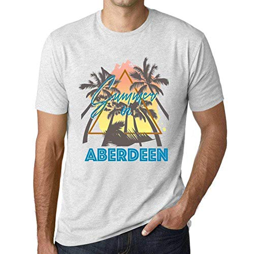 One in the City Hombre Camiseta Vintage T-Shirt Gráfico Summer Triangle Aberdeen...