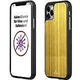 CuCase Funda para teléfono móvil compatible con iPhone 11 Pro [elimina naturalmente virus y bacterias]   Funda para teléfono móvil [antigolpes] carcasa protectora (dorada, negro)