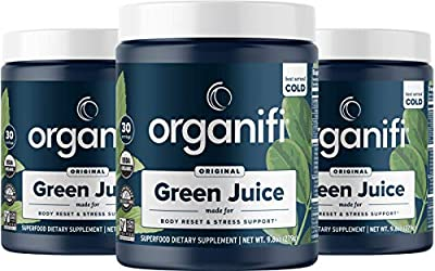 Organifi: Green Juice - Organic Superfood Powder - 3 Pack - Supply - Organic Vegan Greens - Hydrates and Revitalizes - Support Immune System, Relaxation and Sleep