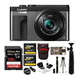 Panasonic DC-ZS70S LUMIX Digital Camera with 128GB SD Card and Accessory Bundle