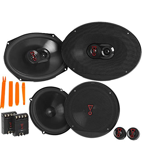 "JBL STAGE3 Bundle 1-Pair Stage3 9637AM 6x9 3-Way Speakers + 1-Pair Stage3 607CAM 6.5"" 2-Way Component"