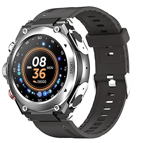 SKTE Pulsera Dual del Reloj del Auricular del Bluetooth del Podómetro Multifuncional De Los Deportes De La Música MP3 (Color : Silver Gray)
