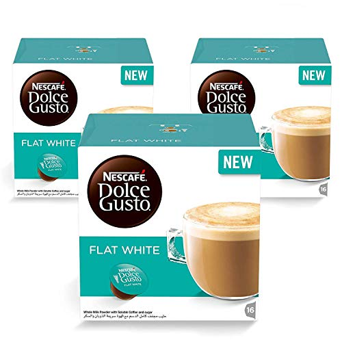 Nescafe Dolce Gusto FLAT WHITE coffee pods for Dolce Gusto Machines 48 ct