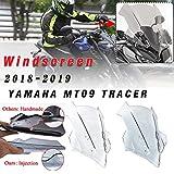 lorababer per yamaha mt-09 2018-2019 parabrezza windscreen fj09 parabrisas accessori moto tracer 900 / gt 18 19 mt09 fj09 accessori (fumo leggero)