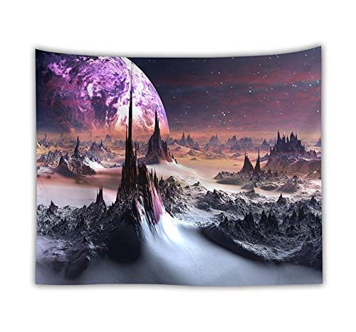 PPOU Psicodélico Colorido Universo Vía Láctea Tapiz de la Tierra Tapiz Boho Familia Dormitorio decoración Tela de Pared Tapiz Tela de Fondo A13 130x150cm