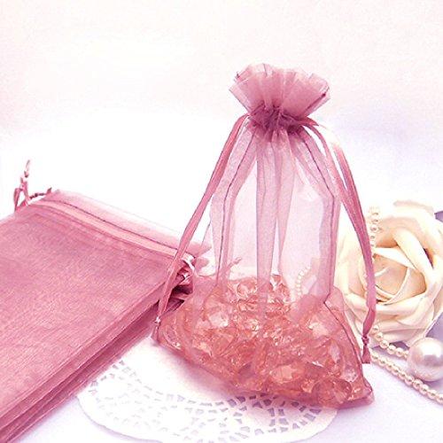 Willlly Fashion Style 100 stuks Sheer Moderne Organza Bruiloft Party Gevallen Candy Pouch Tassen 12 * 16Cm appelgroen
