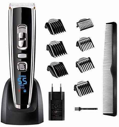 Hair clipper 11 in 1 haar en baard trimmer set USB tondeuse machine for accu en netvoeding mannen scheerapparaat tondeuse met keramische/titanium bladen en 7 opzetkammen LOLDF1