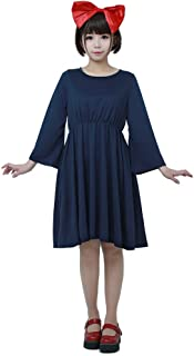 Miccostumes Womens Kiki's Delivery Service Halloween Cosplay Costume Witch Dress