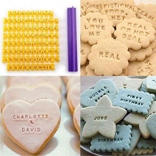 SJYM Fondant schimmel alfabet Letter nummer Cookie Press stempel Embosser Cutter Fondant schimmel Cake bakken mallen Tools, zoals afgebeeld