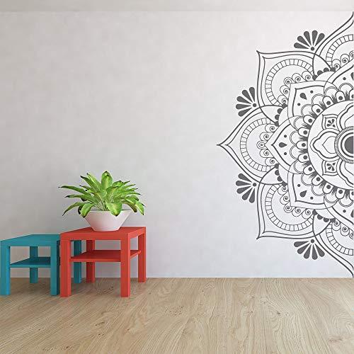 Media mandala calcomanía de pared cabecera puerta ventana pegatinas dormitorio principal estudio de yoga decoración del hogar estilo bohemio adorno arte A8 57x115cm