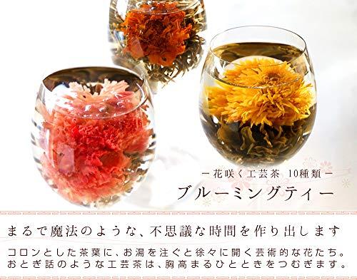 プレゼント人気工芸茶セット10種類詰め合わせ個包装カーネーション茶ジャスミン茶花茶中国茶ジャスミンティー