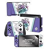 Controller Gear Officially Licensed Nintendo Pokémon Switch Console Skin 'Mewtwo Skate Set 1'