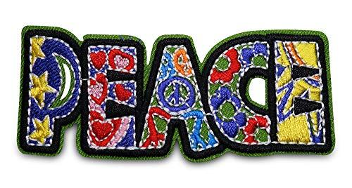 Finally Home Kleurrijke Peace Hippie patch om op te strijken | patches, strijkpatch, patch