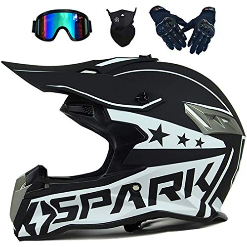 Casco integral de motocross, cascos de moto, bicicleta de tierra eléctrica todoterreno Atv Quad Bike MX 50cc Mini moto, casco de quad para niños y adultos