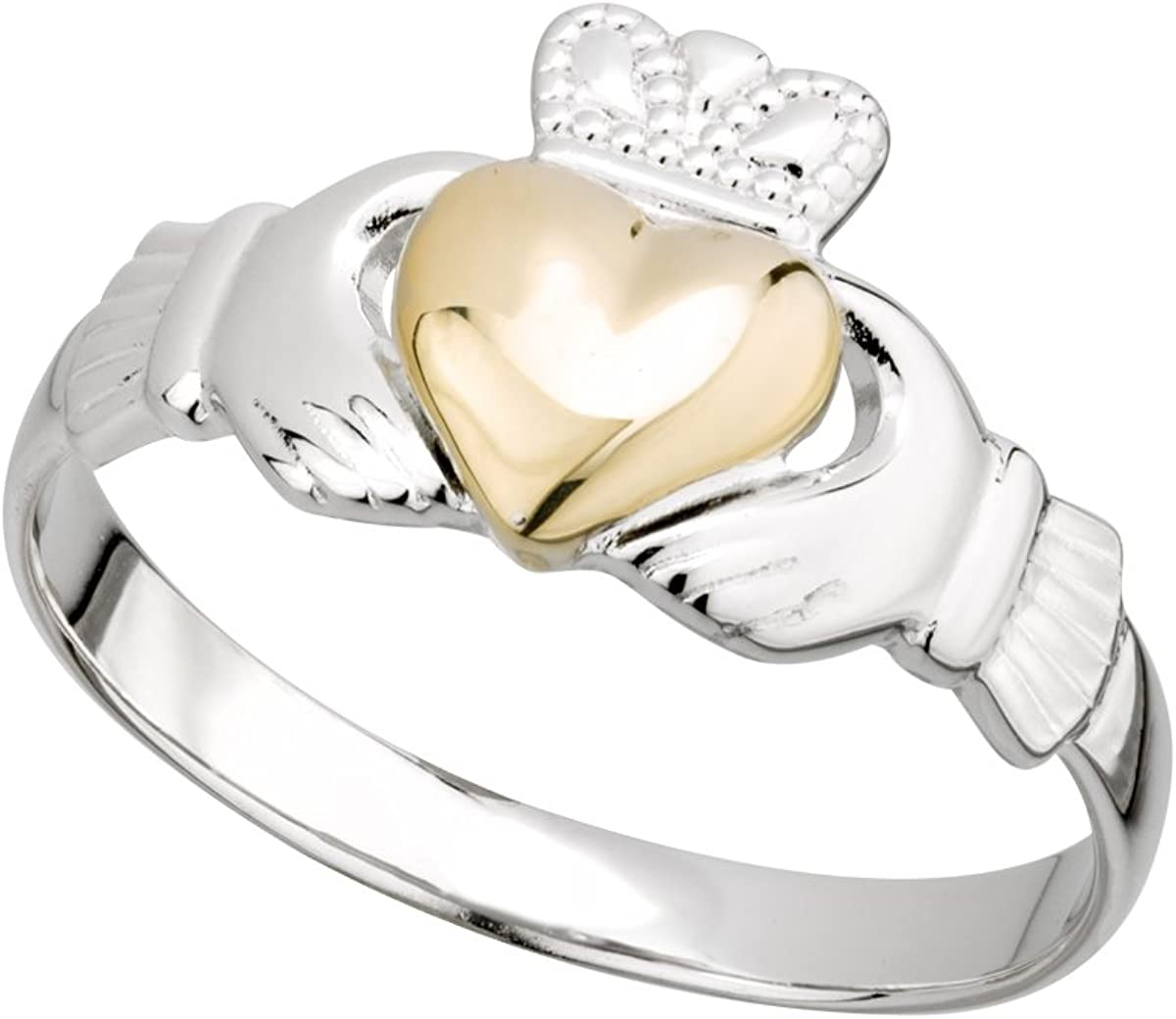 Irish Claddagh Sale SALE% OFF Ring Made in Ireland 10K Sterling Max 76% OFF and Silver Gold