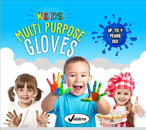 Valdern Einweghandschuhe für Kinder, latexfrei, puderfrei, verschiedene Farben, 20 Paar