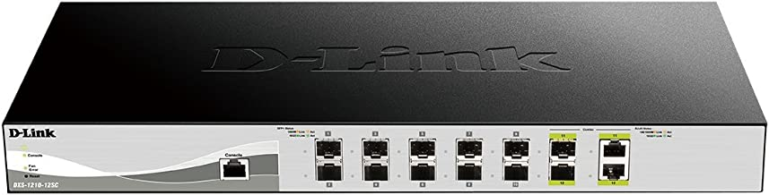 D-Link 12-Port 10G Web Smart Switch Including 10 SFP+ and 2 RJ45/SFP+ Combo Ports (DXS-1210-12SC)