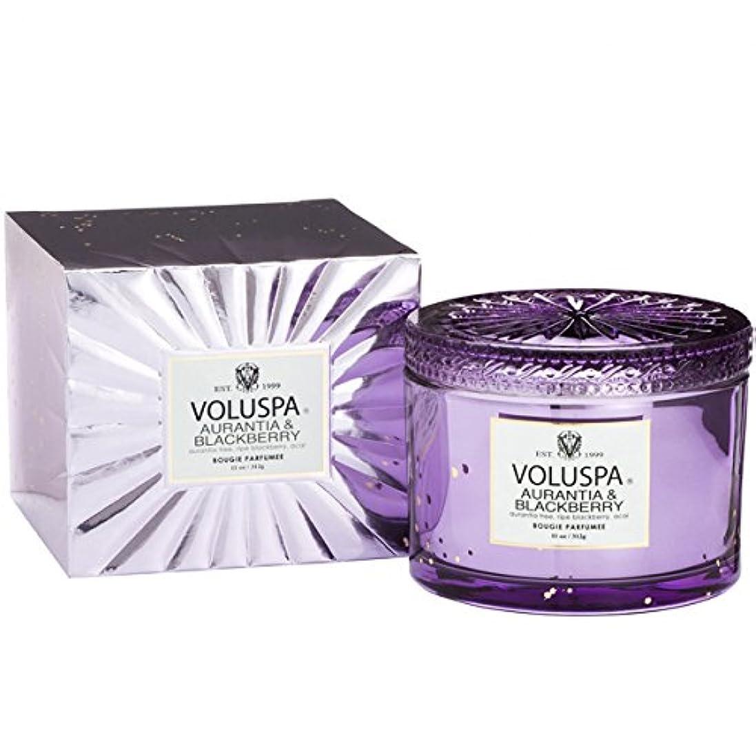 無限大練習した倫理的Voluspa ボルスパ ヴァーメイル ボックス入り グラスキャンドル オーランティア&フ?ラックヘ?リー AURANTIA&BLACKBERRY VERMEIL BOX Glass Candle
