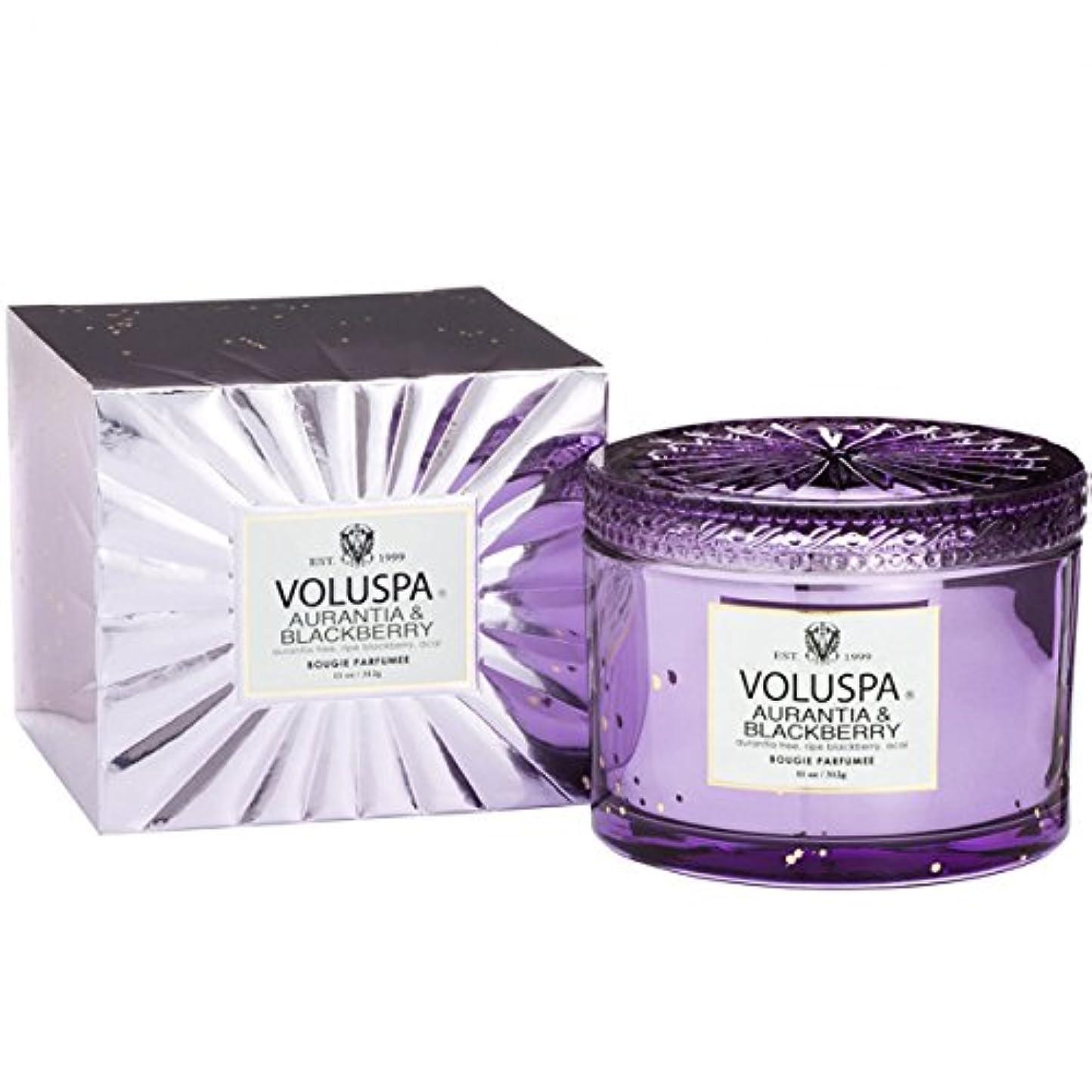 視線ブラウズ伝統Voluspa ボルスパ ヴァーメイル ボックス入り グラスキャンドル オーランティア&フ?ラックヘ?リー AURANTIA&BLACKBERRY VERMEIL BOX Glass Candle
