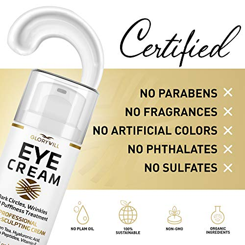 51RUomJx7YL - Professional Eye Cream - Anti-Aging & Wrinkle Cream for Women & Men - Made in USA - Reduces Dark Circles, Under-Eye Bags & Puffiness - Eye Care with Hyaluronic Acid & Vitamin E (1 oz)