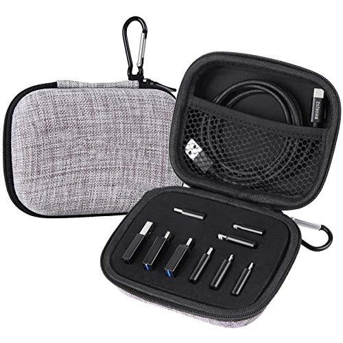 BHSKJSZ Kit de 10 adaptadores de tipo C compatibles con micro USB/Tipo C/USB OTG, maletín de viaje con mosquetón y cable USB tipo C incluido.