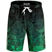 APTRO Men's Quick Dry Swim Trunks Long Elastic Waistband Swimwear Bathing Suits with Pockets