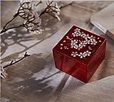 HAIHF Rangement Bijoux,Fleur de Cerise de Feuille d'Or de Laque du boîte Bijoux Bijoux boîte Bijoux avec Miroir Japonais Anniversaire de Mariage Cadeaux