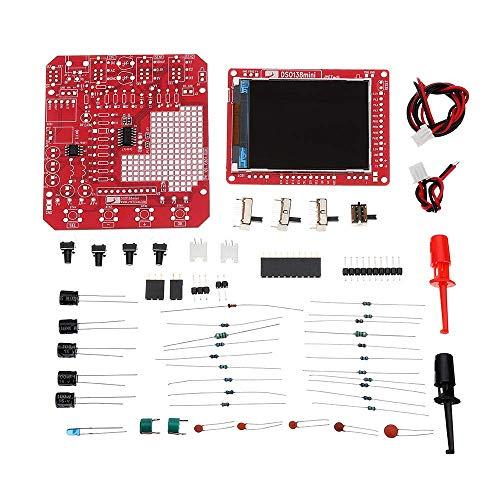 DollaTek Mini Kit oscilloscopio Digitale Fai-da-Te SMD Pre-saldato 200 KHz 3,5 V-6 V CC con Custodia