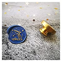 ワックススタンプ レトロな真鍮スタンプシーグラックスタンプワックスシールスタンプ (Farbe : Just head style 30)