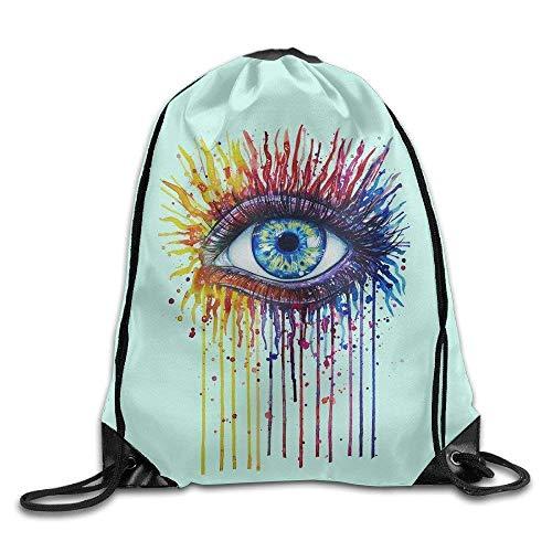 Coloring Eyes Bags Funny Summer Bags Drawstring Backpack Bulk Kids Drawstring Backpack Bulk Wholesale