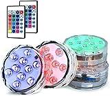 DZCGTP 4 Luces LED sumergibles Multicolor, iluminación subacuática a Control Remoto Impermeable, decoración para Piscina, Centro de Mesa, Boda
