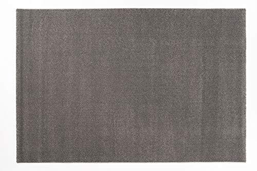 VENUS UNI moderner Designer Teppich in anthra, Größe: 65x130 cm