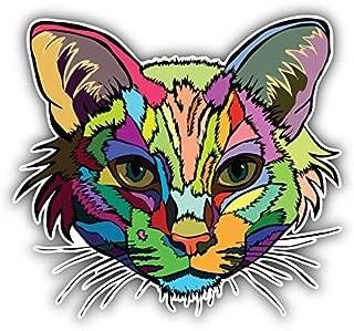 KW Vinyl Magnet Colorful Cat Head Animal Truck Car Magnet Bumper Sticker Magnetic 5