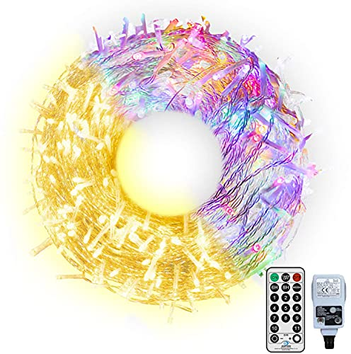 Outdoor Fairy Light Mains Powered 100M Long String Lights Plug in, Christmas Tree Lights Color Changing Outside String Lights with Remote for Outdoor Indoor Tree Patio Garden Decor