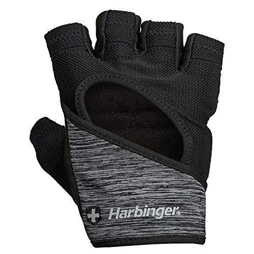 Harbinger FlexFit Fitness Handschuh Damen, Gewichtheber Handschuhe, Waschmaschinengeeignet, Schwarz/Heidekraut, M