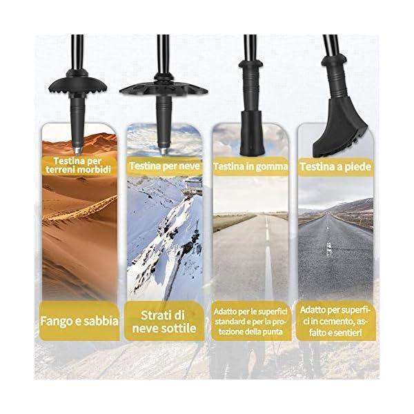 Glymnis Bastones de Senderismo Bastones Trekking Plegables 2pcs 36cm~130cm de Aleación de Aluminio 7075 y EVA para… 1