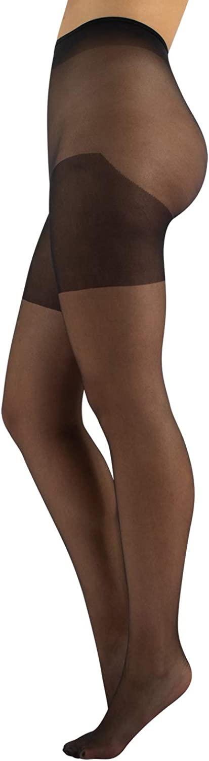 CALZITALY Daily Plus Size Tights   XL, 2XL, 3XL, 4XL   Black, Skin   40 DEN   Made in Italy