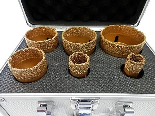 Diamant Fliesenbohrkronen M14 Set 6 tlg. 20/25/42/50/55/68 mm Fliesen Bohrkrone Glasbohrer