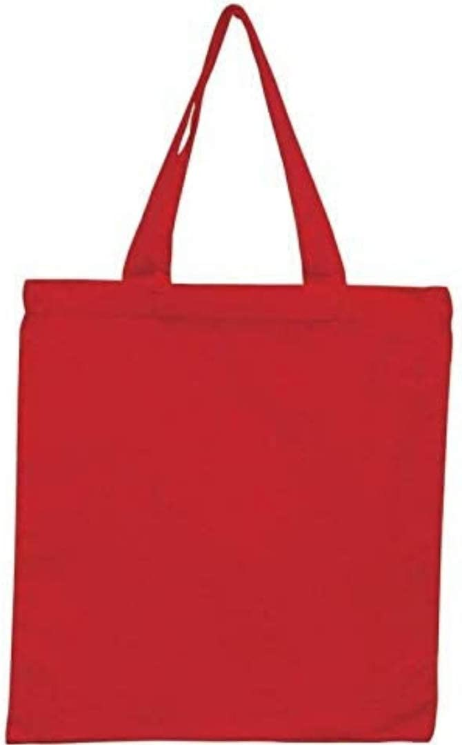 Pack Choice of 50 online shop Red Color Reusable Canvas Tote Bags 6 15x16 Cotton
