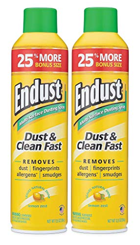 Endust Multi-Surface Dusting and Cleaning Spray, Lemon Zest, 2 Count