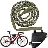 YOMERA Cuerda de Remolque MTB, Cuerda de Remolque Bicicleta para Niños, 4.5M, hasta 500 LB / 225 kg Universalmente Duradera, para Bicicletas, Bicicleta Eléctrica,Verde