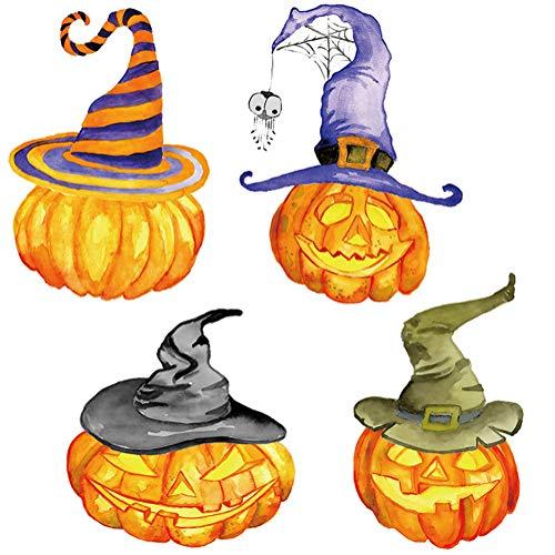 Yoillione Halloween Fensterbilder Halloween Kürbis Sticker Deko, Halloween Wandaufkleber Wandtattoo Halloween Wanddeko Badezimmer Schlafzimmer Wohnzimmer Küche für Happy Halloween Party