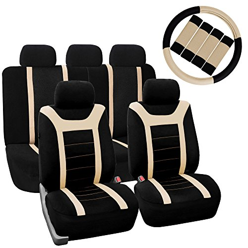 FH Group FB070115 Sports Seat Covers (Beige) Full Set with Gift – Universal Fit for Cars Trucks  Hawaii