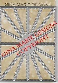 Gina Marie Metal Cutting Paper Craft Die - Oval Burst Plate