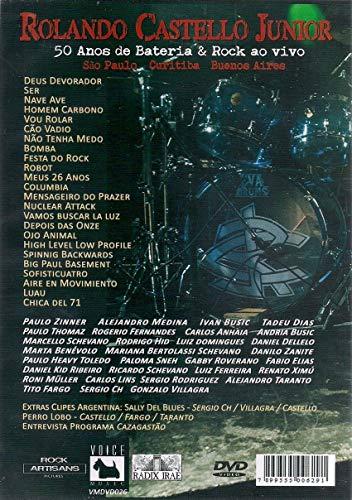 DVD - Rolando Castello Junior - 50 Anos De Bateria & Rock Ao Vivo