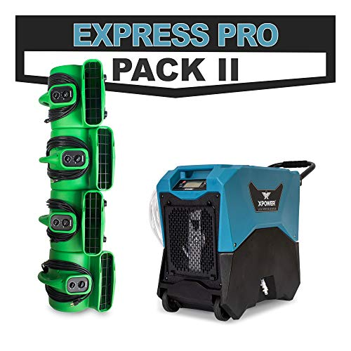 Best Review Of Flood Restoration Express PRO Pack II w/Commercial XD-85LH LGR Dehumidifier & 4 P-430...